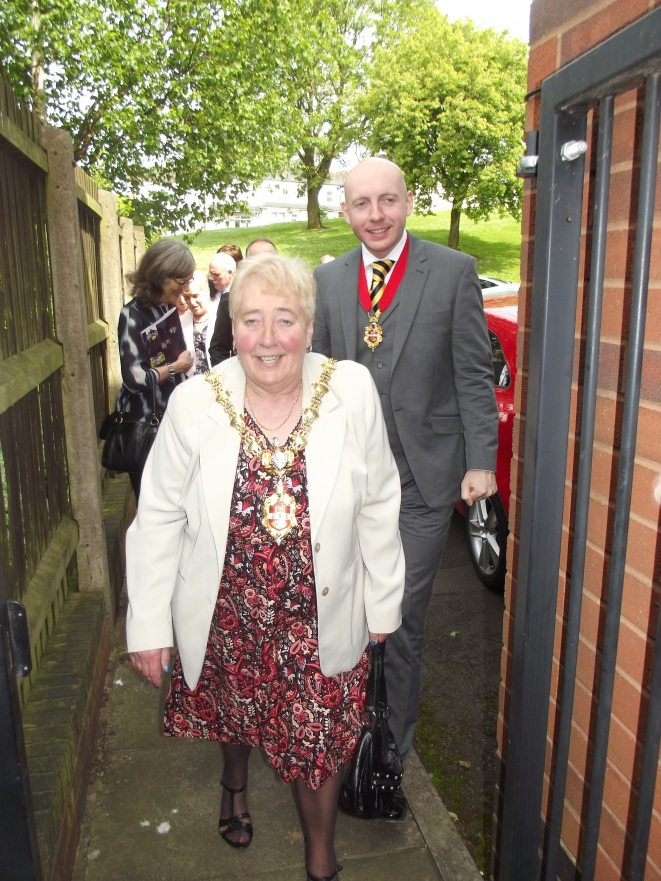 The new Mayor and her Consort arrive at CHADD Foyer Project