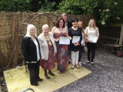 Proud volunteers with their certificates at CHADD