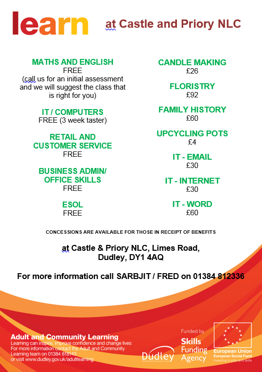 castle and priory lc courses