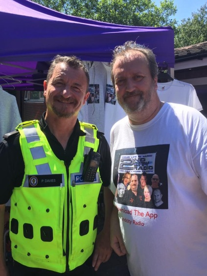 Chris Phillips with PC Paul Davies