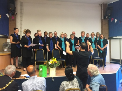 the Feelgood Choir performed