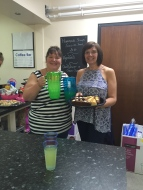 Donna and Nicki from Dudley CVS ran the coffee bar