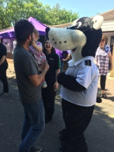Bertie Badger meets and greets