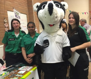 St John Ambulance and Bertie Badger