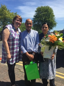 Eileen with Cllr Mohammed Hanif and Zabeda Khanam